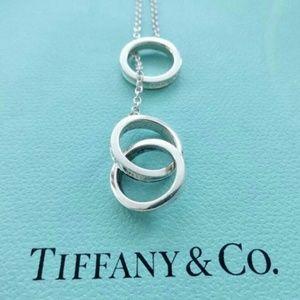 Tiffany & Co Interlocking 3 Circle Lariat Necklace
